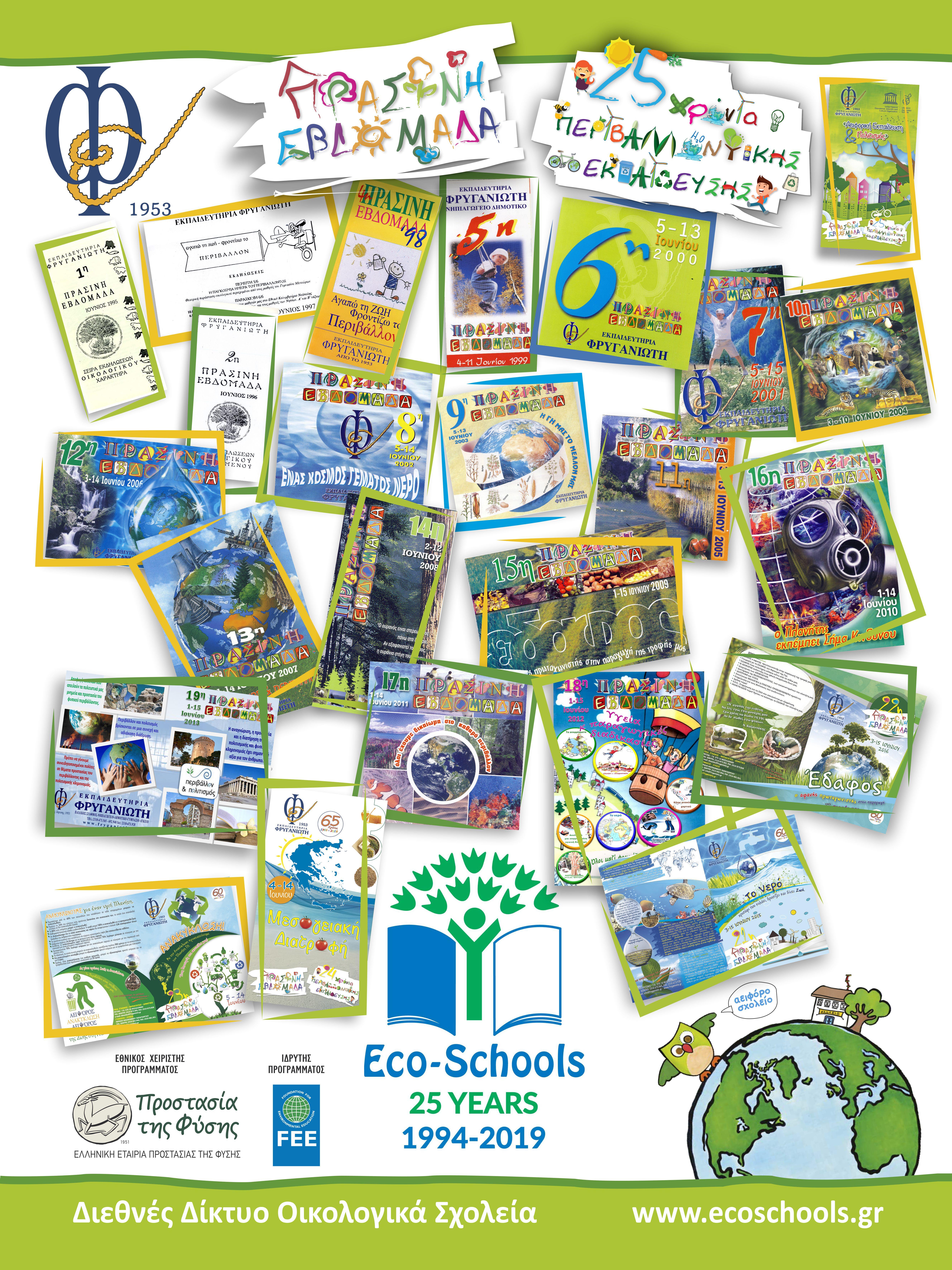 Πόστερ 25 Χρόνια Περιβαλλοντικής Εκπαίδευσης